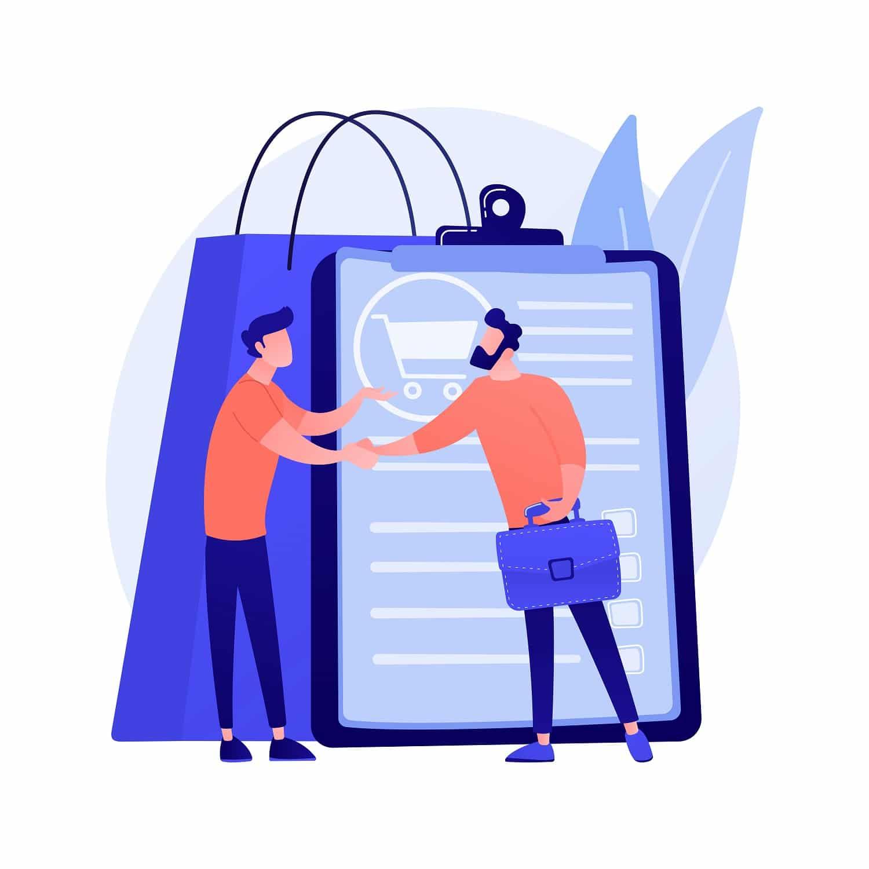 B2B Sales Funnel Handshake